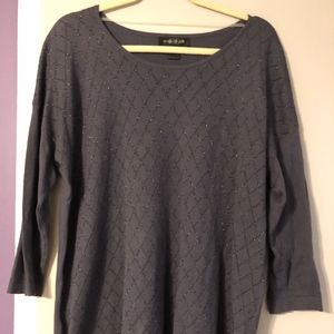 August Silk sparkly patterned sweater